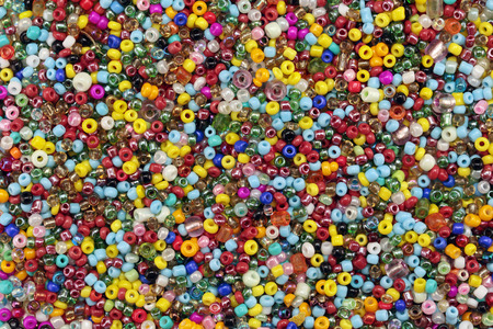 globule: A mixture of colorful ceramic beads, background Stock Photo