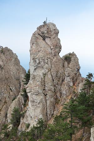 cusp: The top of the mountain Ai-Petri, Yalta Municipality, Republic of Crimea, Russia