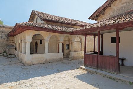 jewish houses: Crimean Karaites Kenassas XVI and XVIII century in medieval cave city-fortress Chufut-Kale, Bakhchysarai, Republic of Crimea, Russia