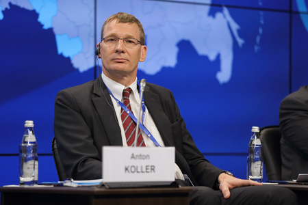 anton: SAINT-PETERSBURG, RUSSIA - JUN 18, 2016: St. Petersburg International Economic Forum SPIEF-2016. Anton Koller, President of District Heating Division, Danfoss AS Editorial
