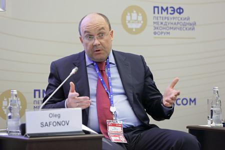 petrovich: SAINT-PETERSBURG, RUSSIA - JUN 18, 2016: St. Petersburg International Economic Forum SPIEF-2016. Oleg Safonov, Head of the Federal Agency for Tourism