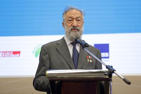 SAINT-PETERSBURG, RUSSIA - JUN 18, 2016: St. Petersburg International Economic Forum SPIEF-2016. Artur Chilingarov - famous Armenian-Russian polar explorer Editorial