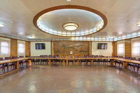MURMANSK, RUSSIA - FEB 17, 2016: Interior of the Soviet atomic icebreaker Lenin