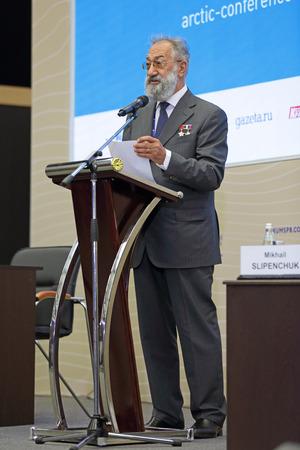 illustrious: SAINT-PETERSBURG, RUSSIA - JUN 18, 2016: St. Petersburg International Economic Forum SPIEF-2016. Artur Chilingarov - famous Armenian-Russian polar explorer Editorial