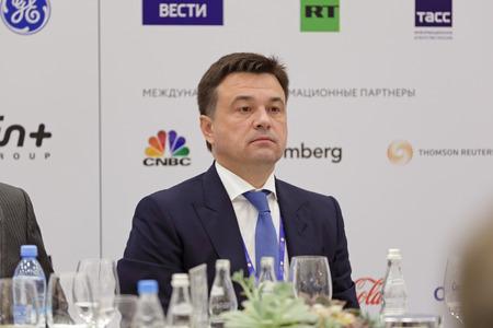 governor: SAINT-PETERSBURG, RUSSIA - JUN 17, 2016: St. Petersburg International Economic Forum SPIEF-2016. Andrey Vorobyov - Governor of Moscow Oblast