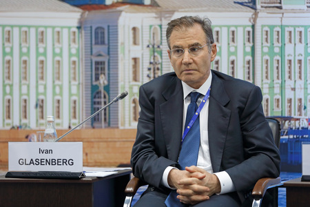 ag: SAINT-PETERSBURG, RUSSIA - JUN 17, 2016: St. Petersburg International Economic Forum SPIEF-2016. Ivan Glasenberg, Chief Executive Officer, Glencore International AG
