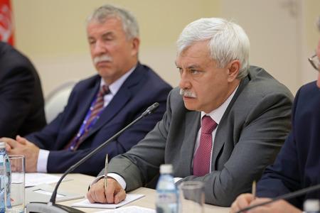 statesman: SAINT-PETERSBURG, RUSSIA - JUN 18, 2016: St. Petersburg International Economic Forum SPIEF-2016. Georgy Sergeyevich Poltavchenko - Governor of Saint Petersburg
