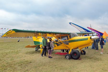 ZHUKOVSKY, MOSCOW REGION, RUSSIA - AUG 29, 2015: Maule M-9-235C - American lightweight single-engine short take-off and landing aircraft at the International Aviation and Space salon MAKS-2015 Redakční