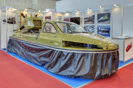 hovercraft: KUBINKA, MOSCOW OBLAST, RUSSIA - SEP 06, 2016: International military-technical forum ARMY-2016 in military-Patriotic park. Christy Hovercraft