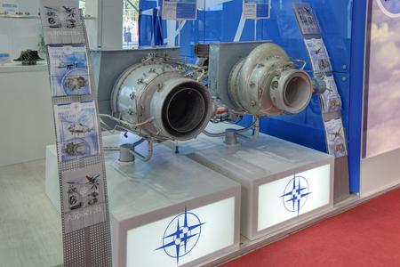 turbojet: KUBINKA, MOSCOW OBLAST, RUSSIA - SEP 06, 2016: Auxiliary gas turbine engines at the International military-technical forum ARMY-2016