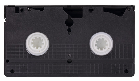videocassette: Old video cassette standard VHS, isolated on white background Foto de archivo