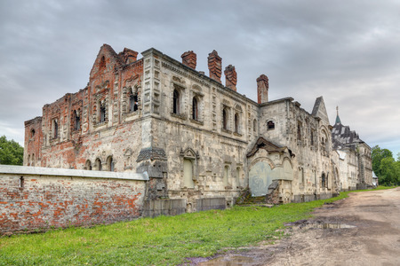 Pushkin, Saint-Petersburg, Russia, Tsarskoye Selo. The ruins of the Feodorovsky Gorodok - a complex of buildings 1913 - 1918