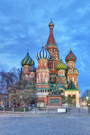 gloaming: The Cathedral of Vasily the Blessed, commonly known as Saint Basils Cathedral, is a church in Red Square in Moscow, Russia