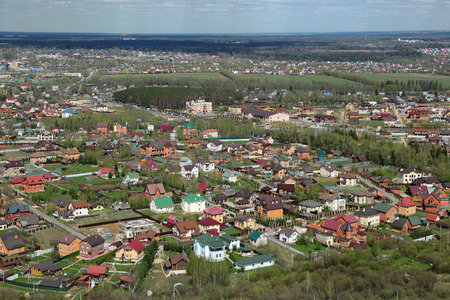 Russia, Moscow region, a top view of the cottage homes Stock Photo