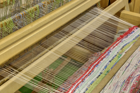 weavers: A fragment of an ancient weaving loom