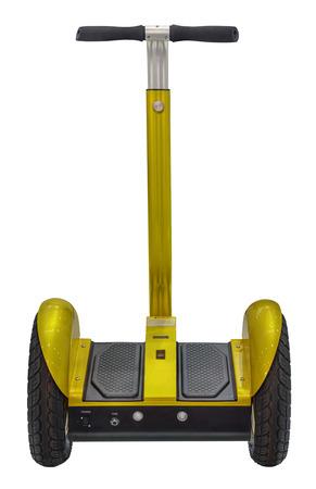 segway: Alternative transport vehicle segway electric gyro scooter balance motion drive Stock Photo