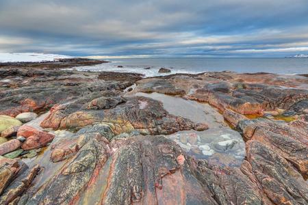 Russian polar region, Kola Peninsula, Murmansk Oblast, views of the Barents sea the Arctic ocean