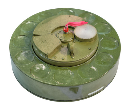 Antiaircraft mine - designed to engage helicopters and other low-flying targets Stock Photo