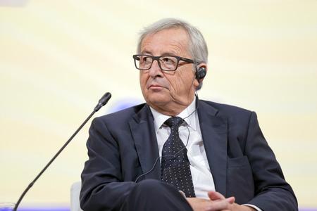 commission: SAINT-PETERSBURG, RUSSIA - JUN 16, 2016: St. Petersburg International Economic Forum SPIEF-2016. President of the European Commission Jean-Claude Juncker