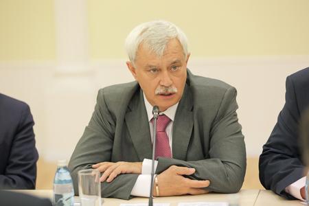 governor: SAINT-PETERSBURG, RUSSIA - JUN 18, 2016: St. Petersburg International Economic Forum SPIEF-2016. Georgy Sergeyevich Poltavchenko - Governor of Saint Petersburg
