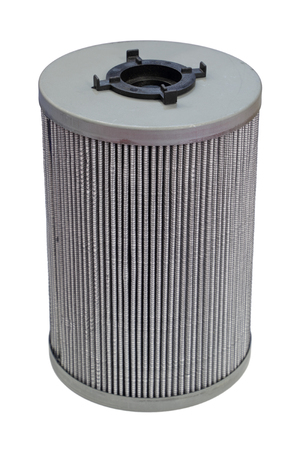 Internal combustion engine oil filter, isolated on white background