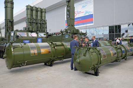 KUBINKA, MOSCOW OBLAST, RUSSIA - AUG 22, 2018: S-300VM