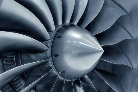 Motore turbogetto dell'aereo, primo piano