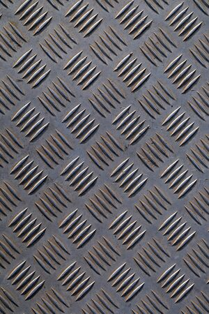Texture old corrugated steel sheet Stock Photo