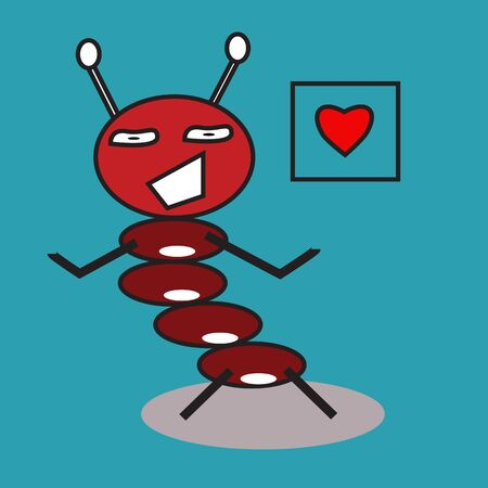 red ant dancing with love