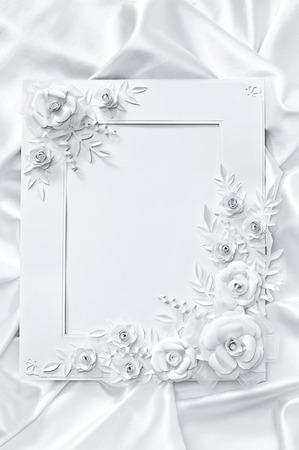 wedding photo frame: Foto di matrimonio cornice, stile in bianco