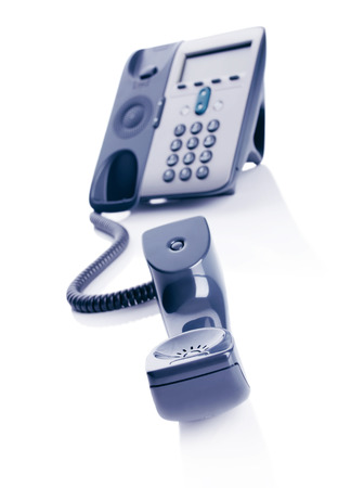 Telephone on a white background Stock Photo