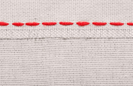 Embroidered symbols on a fabric