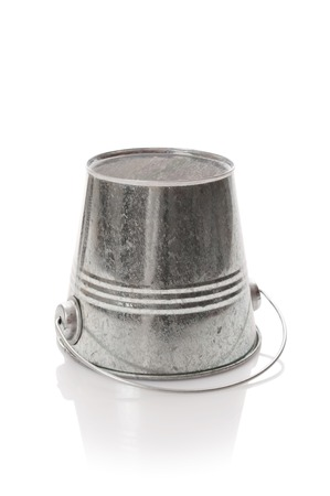 The zinked bucket on a white background