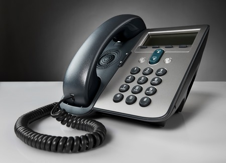 voip: Telephone on a table