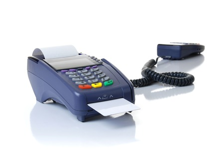 Payment on a credit card through the terminal photo