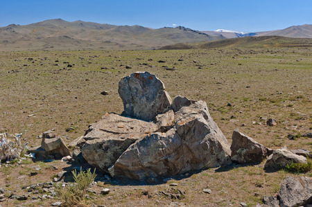 Historic Site, where the sacrificed people went to the mountains. The Republic of Altai.