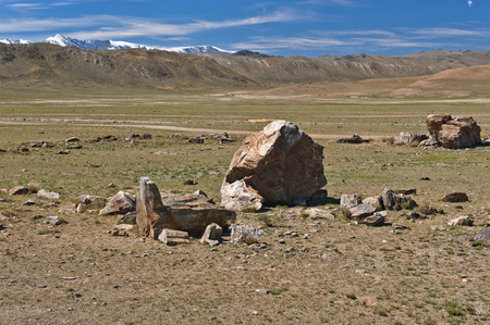 sacrificed: Historic Site, where the sacrificed people went to the mountains. The Republic of Altai.