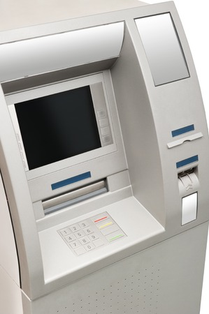 automated teller: Automated teller machine close-up