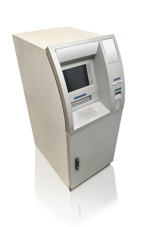 automated teller machine: Automated teller machine isolated on white Stock Photo