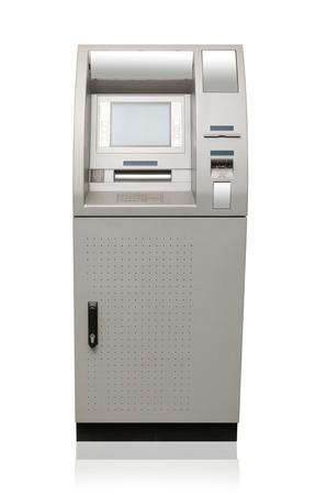 bancomat: Automated teller machine isolated on white Stock Photo