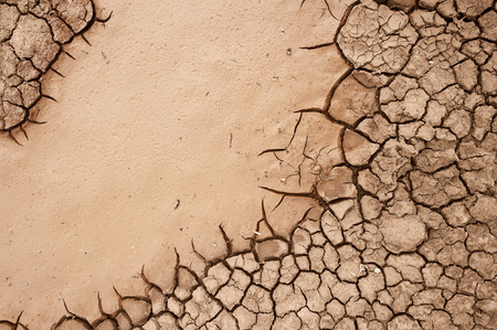 barrenness: Dried up cracked salt-marsh ground Stock Photo