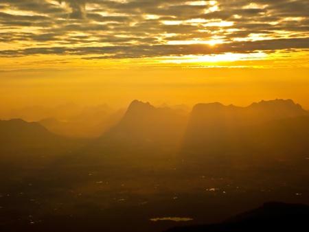 Sunrise  in  Phukradung,Thailand photo