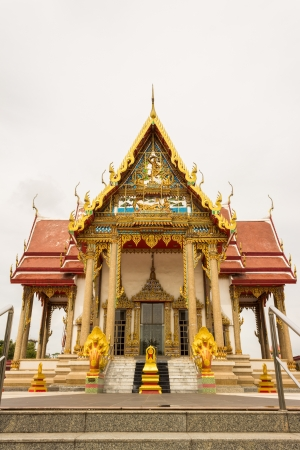 modern temple in Thailand photo
