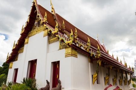 the peaceful temple in wat bung,Thailand photo
