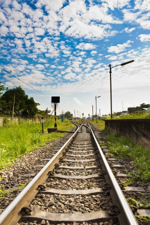 Railway in countryside of Thailand Stock Photo - 17126994
