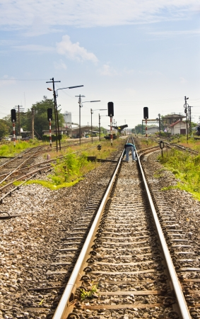 Railway in countryside of Thailand Stock Photo - 17127007