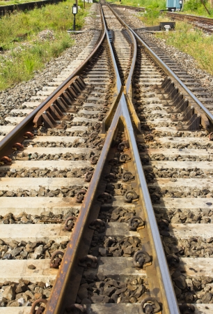 Railway in countryside of Thailand Stock Photo - 17127009