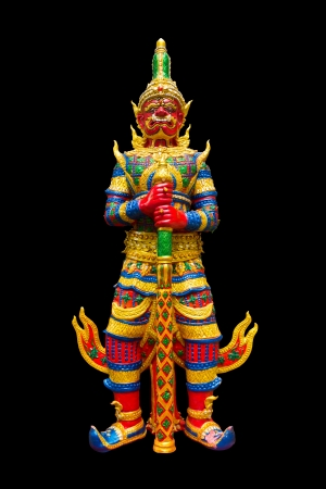 Thai statue with black background photo