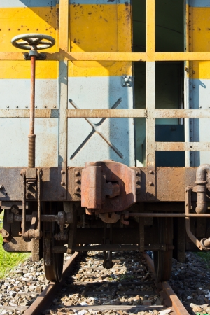 The old train on the railway in countryside ,Thailand Stock Photo - 17127257
