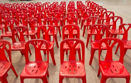 line lines luxury meeting: red chair on the floor